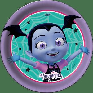 Prato de Papel Rígido Vampirina 8 unidades