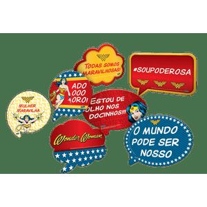 Kit Placas Mulher Maravilha - 09 unidades
