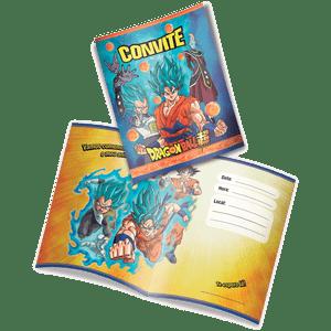 Convite Decorativo Dragon Ball 8 unidades