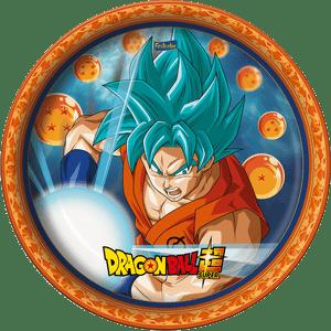 Prato de Papel Rígido Dragon Ball 8 unidades
