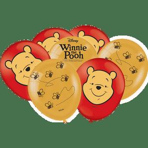 Balão de Latex n°9 Pooh e sua Turma 25 unidades