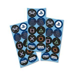 Adesivo Playstation com 30 unidades em 3 Cartelas