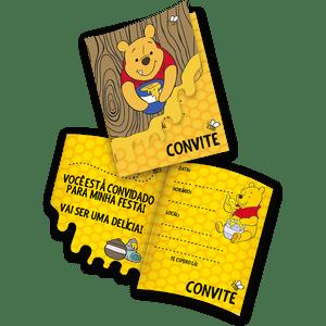 Convite decorativo Pooh e sua Turma 8 unidades