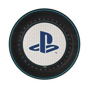 Prato de Papel Rígido Playstation 8 unidades