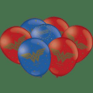 Balão de Latex n°9 Mulher Maravilha - 25 unidades
