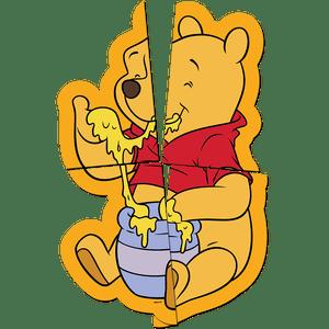 Painel 4 Laminas Pooh e sua Turma 126cmx88cm