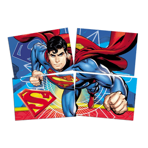 Painel 4 Laminas Superman 126cmx88cm