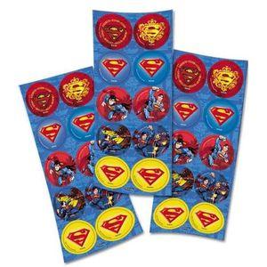 Adesivo Superman com 30 Unidades em 3 Cartelas