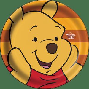 Prato de Papel Rígido Pooh e sua Turma 8 unidades