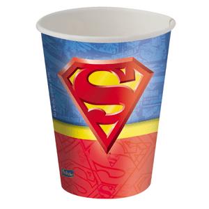 Copo de Papel 200ml Superman 8 unidades