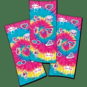 Adesivo Tie Dye  com 30 Unidades em 3 Cartelas