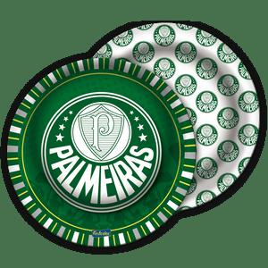 Prato de Papel Rígido Palmeiras 08 unidades