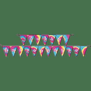 Faixa Feliz Aniversário Tie Dye