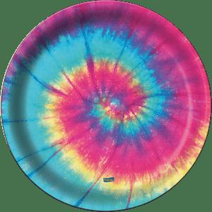 Prato de Papel Rígido Tie Dye  8 unidades