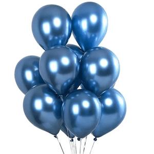 """Balão de Látex Cromado 9"""" com 25 Unidades Azul"""