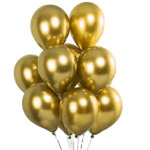 """Balão de Látex Cromado 9"""" com 25 Unidades Ouro"""