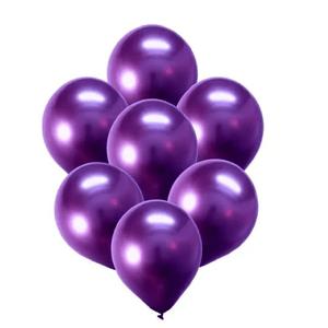 """Balão de Látex Cromado 9"""" com 25 Unidades Roxo"""