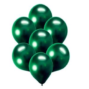 """Balão de Látex Cromado 9"""" com 25 Unidades Verde"""