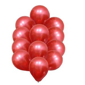 """Balão de Látex Cromado 9"""" com 25 Unidades Vermelho"""