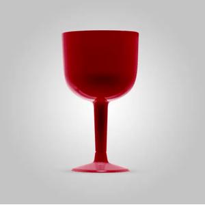 Taça Gin Pit 500 em Acrílico 500ml com 4 Unidades Vermelho Fosco