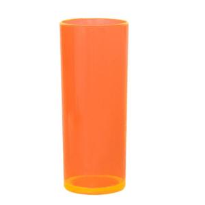 Copo Pic 360 de Acrílico Long Drink Laranja Glass