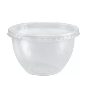 Pote Bowl de Plástico com Tampa 250ml com 20 Unidades
