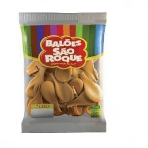 """Balão São Roque Cintilante 7"""" Ouro - Pacote com 50 Unidades"""