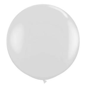 "Balão de Látex 250"" Liso Branco"