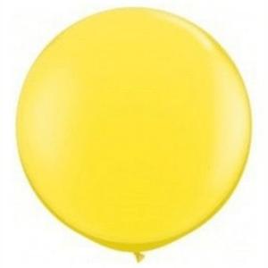 """Balão de Látex 250"""" Liso Amarelo"""