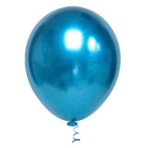 """Balão de Látex Cromado 5"""" com 25 Unidades Azul"""