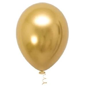 """Balão de Látex Cromado 5"""" com 25 Unidades Ouro"""