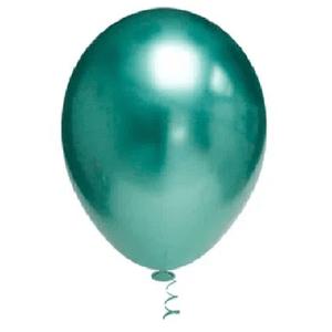 """Balão de Látex Cromado 5"""" com 25 Unidades Verde"""