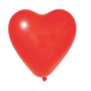 """Balão PIC PIC 10"""" Coração Liso Vermelho - Pacote com 25 Unidades"""