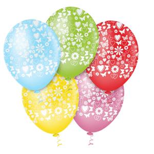 """Balão PIC PIC 10"""" Primavera Sortido - Pacote com 25 Unidades"""