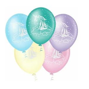 """Balão PIC PIC 10"""" Unicórnio Sortido - Pacote com 25 Unidades"""