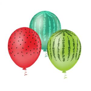 """Balão PIC PIC 10"""" Melancia Sortida - Pacote com 25 Unidades"""
