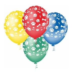"""Balão PIC PIC 10"""" Caninos Sortidos - Pacote com 25 Unidades"""