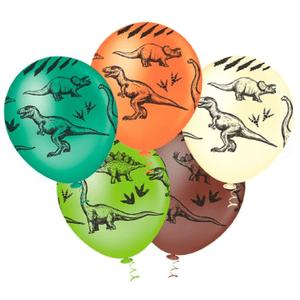 """Balão PIC PIC 10"""" Dinossauro Sortido - Pacote com 25 Unidades"""