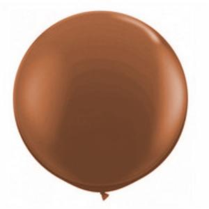 """Balão de Látex 250"""" Liso Marrom"""