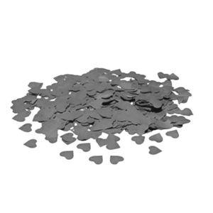 Confete de Coração Metálico com 20 gramas 1,5cm na Cor Prata