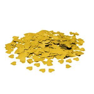 Confete de Coração Metálico com 20 gramas 1,5cm na Cor Ouro