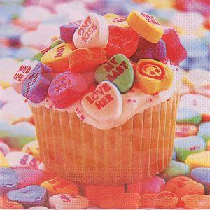 Guardanapo Importado Decorativo 33 x 33cm 3 Folhas com 20 Unidades Cupcake Candy