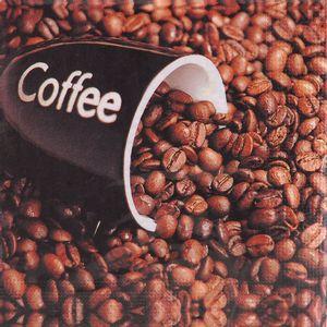 Guardanapo Importado Decorativo 33 x 33cm 3 Folhas com 20 Unidades Grãos de Café