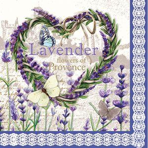Guardanapo Importado Decorativo 33 x 33cm 3 Folhas com 20 Unidades Flores Lavanda