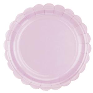Prato de Papel Rosa Candy 17,5cm - 10 unidades