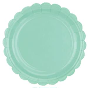 Prato de Papel Verde Candy 17,5cm - 10 unidades