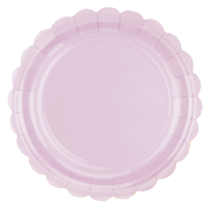 Prato de Papel Rosa Candy 22,5cm - 10 unidades