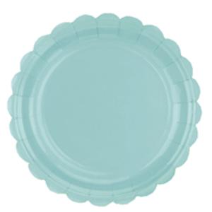 Prato de Papel Azul Candy 22,5cm - 10 unidades