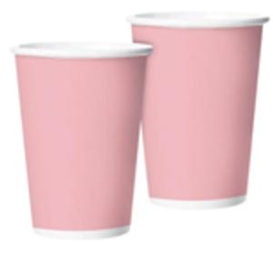 Copo de Papel Rosa Candy 265ml - 10 unidades
