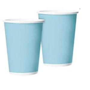 Copo de Papel Azul Candy 265ml - 10 unidades